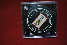 CHICAGO BLACKHAWKS *STANLEY CUP BANNER*  NHL OFFICIAL GAME HOCKEY PUCK CUBED