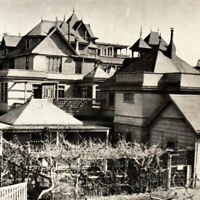 Antique 1920s Rear View Of Mystery House Winchester Park Postcard San Jose Cali