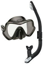 Mares One Vision Ergo Dry Mask & Snorkel Set. All Black