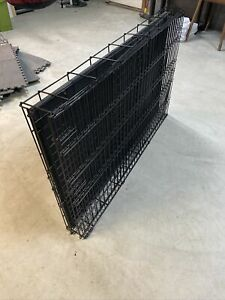 Large Metal Dog Crate (Black)