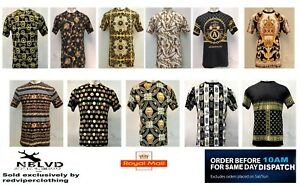 Mens Casual T-Shirt Graphic Tee Tops Baroque Polyester Print Short Sleeve Ts LOT
