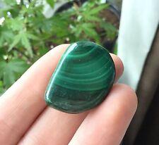 Beautiful Green Malachite Tumble Stone Crystal 17.2g Heart Chakra Healing M12