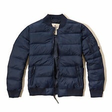 Hollister Lightweight Down Bomber Jacket coat Navy Small mens bnwt