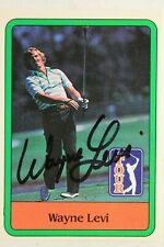 Wayne Levi Autograpedh Signed 1981 Donruss Golf Card #32