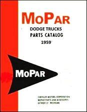 Illustrated MoPar Parts Manual for 1959 Dodge Trucks