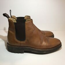 Polo Ralph Lauren Chelsea Ankle Boots Mens Sz 9D Brown Leather Made In Italy