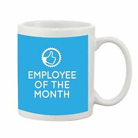 Employee of the Month Job Staff Office Novelty Gift Ceramic Earthenware Mug Cup