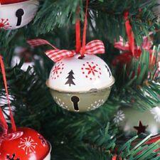 6pcs Metal Jingle Bell Christmas Tree Decorations 50mm New Home Xmas Ornaments