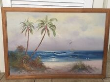 "KARL NEUMANN PAINTING Seascape Large Framed @ 36"" by 24"" on Canvas"