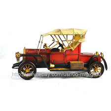 Handmade 1910 Red Rolls-Royce Car 1:12 Tinplate Antique Style Metal Model