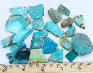 American Turquoise Mixed Slabs Rare Rough 25-4