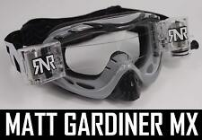 Rip N ROLL motocross enduro LUNETTES DE PROTECTION HYBRIDE RNR Neuf gris clair