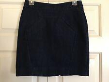 Anthropologie Leifsdottir Womens 4 Blue Denim Above Knee Straight Pencil Skirt