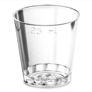 Disposable Shot Glasses CE 25ml To Brim - Pack of 100 | Plastic Shot Glasses