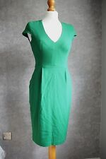 H&M fully lined cap sleeve knee length green fully lined pencil dress 8 - 10