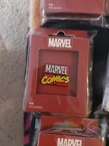 Marvel Comics Sign Metal Pin Badge Brand New