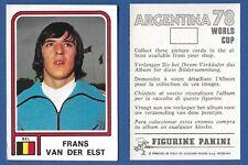 FIGURINA CALCIATORI PANINI ARGENTINA 78 - NEW N.335 VAN DER ELST - BELGIQUE