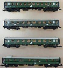 Minitrix Spur N KONVOLUT 4 Schnellzugwagen DRG Ep.II 13170 13171 13172 Innenbel.