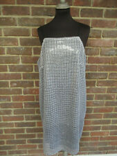 River Island Silver Neo Classic Sequined Strap Dress Size: UK 16 BNWT (783)