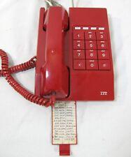 ITT Retro Mod Red Push Button Desktop Office Phone