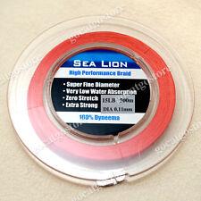NEW Sea Lion 100% Dyneema Spectra Braid Fishing Line 500M 15lb Red