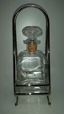 ITALIAN GLASS DECANTER WITH SILVER PLATED STAND/HOLDER