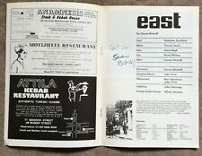 More details for steven berkoff signed theatre programme 'east', regent theatre london 1977