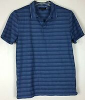 mens banana republic polo shirt Large short sleeve Stripped Cotton Blend