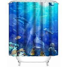 New Quality Fish Design Bathroom Bath Shower Curtain With Hook 180 * 180cm