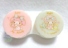New! Sanrio My Melody Kawaii Contact Lens Case from Japan Pink & Ivory