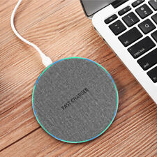 Qi Wireless Fast Charger Dock Mat Pad For iPhone 8 X XS Samsung S10 Note10 9 15W