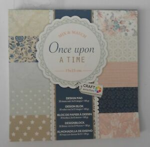 """PACK 10 SAMPLE 6"""" X 6"""" PAPERS ONCE UPON A TIME FOR CARDS AND CRAFTS"""