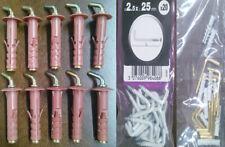 49 Rampini e Tasselli in nylon con gancio medio in acciaio per mura e pareti