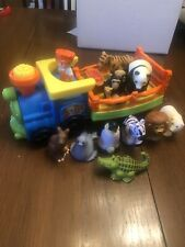 Little People Train With Zoo Animals Lot