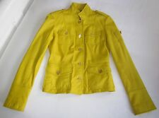 $695 NWT TORY BURCH Yellow Leather SGT PEPPER JACKET Summer Statement Piece 2 XS