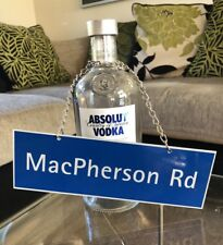 Absolut Vodka Originality Neck Tag Street Sign. Limited Edition Of 100 Singapore