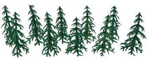 Christmas Cake Decorations 10 x trees / trees christmas tree / yule log