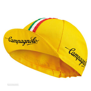 NEW Campagnolo Classic Cycling Cap : YELLOW - MADE IN iTALY!