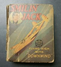 1942 SMILIN JACK FLYING HIGH WITH DOWNWIND  Better Little Book Hard Cover
