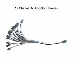 12 Channel LED Multi-Color Accent Light Harness RGB / Strip / Pod  Splitter