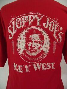 Sloppy joes Key West Ernest Hemingway t-shirt adult XL extra large red cotton