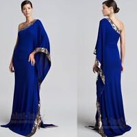 Elegant Muslim Evening Dresses Sequins Long  Formal Prom Party Pageant Ball Gown