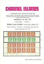 AUCTION CATALOGUE. CHANNEL ISLANDS ROBSON LOWE 1970