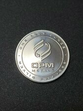 OPM Metals 1oz Silver Round .999 Pure Silver Bullion - One Troy Ounce Coin