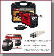 SALDATRICE INVERTER TECNICA 211/S TELWIN ACCESSORI+VALIG.+30 ELETTRODI +LCD AUTO