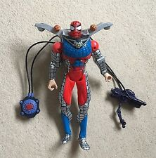 "Marvel Spiderman Adventure Hero 'Water Web Blasters' (2000) 10"" Action Figure"