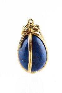 Tiffany & Co. Schlumberger 18K Gold Lapis Egg Charm