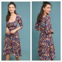 NWT Anthropologie $148 Maeve Empire Waist Beloved Dress Size small