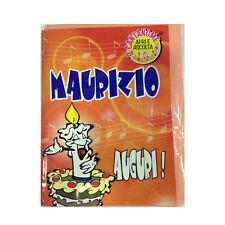 COMPLEANNO biglietto musicale canta nome MAURIZIO e TANTI AUGURI A TE