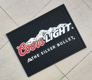 Free Ship Coors LIGHT Rubber drip mat bar mat spill mat bar runner beer coasters